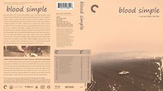 Blood Simple Criterion Collection Blu-ray Custom Cover