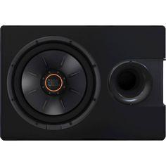 """JBL - 10"""" Single-Voice-Coil 4-Ohm Subwoofer - Black, S21024SS"""