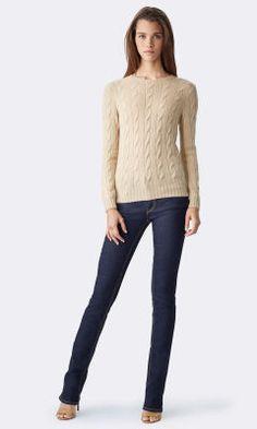 Cable-Knit Cashmere Sweater - Collection Apparel Cashmere - RalphLauren.com