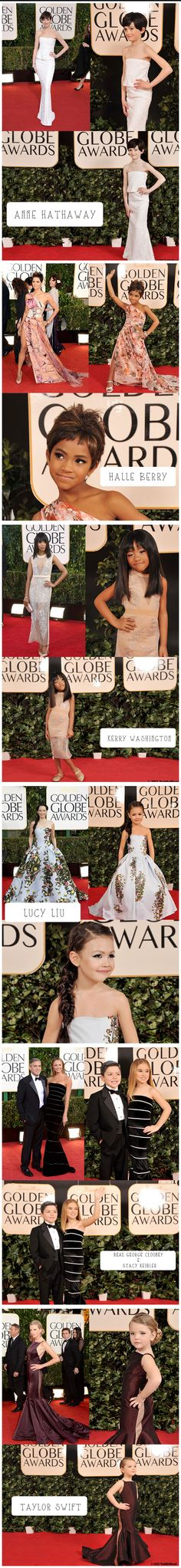 Stars Of The Golden Globes Red Carpet As Children! Love it! :)  Photo by Tricia Messeroux.