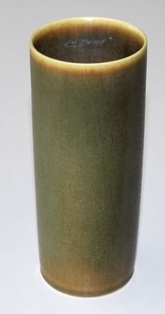 Palshus, vase in stoneware with harefur, Own studio Denmark. H: 14,5 cm.