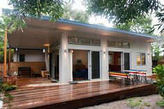 Prefab homes and modular homes in Australia: Ecoliv Sustainable Modular Homes Prefab Modular Homes, Prefabricated Houses, Small Modular Homes, Modular Home Designs, Small House Design, Small House Plans, Kit Homes, Sustainable Living, Future House