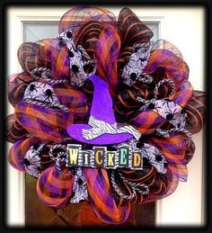 Halloween Deco Mesh Wreath.