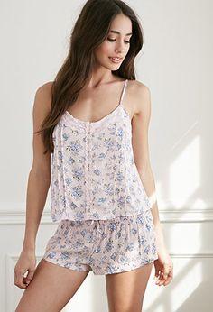 Pijama Estampado Rosas | Forever 21 - 2049257262