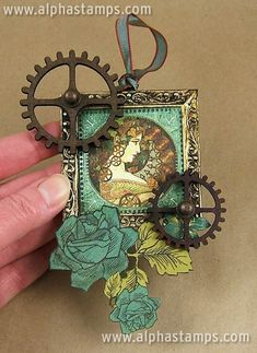 www.AlphaStamps.com Gallery - Steampunk Ornament