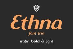 Ethna font trio by NREY on @creativemarket
