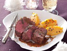 Rôti de biche, purée de patate douceVoir la recette du Rôti de biche, purée de patate douce