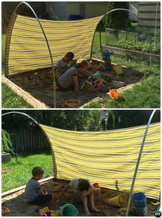 DIY Outdoor PVC Canopy Shelter Instructions More projekte terasse DIY Outdoor PVC Canopy Projects [Picture Instructions] Pvc Canopy, Canopy Outdoor, Outdoor Play, Small Canopy, Garden Canopy, Backyard Playground, Backyard For Kids, Diy Garden Projects, Outdoor Projects