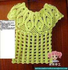blusa piñas a crochet