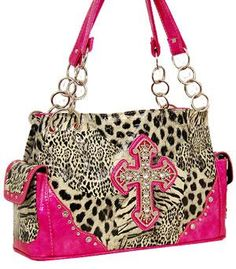 Hot Pink Animal Western Handbag, $44.00