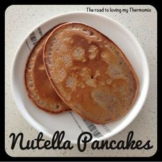 The road to loving my Thermomix: Nutella Pancakes Thermomix Bread, Thermomix Desserts, Thermomix Pancakes, Nutella Pancakes, Oat Pancakes, Pancakes Cinnamon, Beignets, Bellini Recipe, Pancake Bites