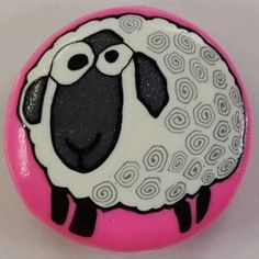 Polymer Clay Sheep Magnet