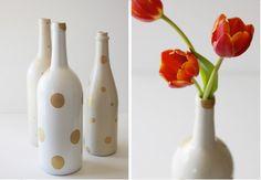 Centros de mesa con botellas de vino (II) | Decorar tu casa es facilisimo.com