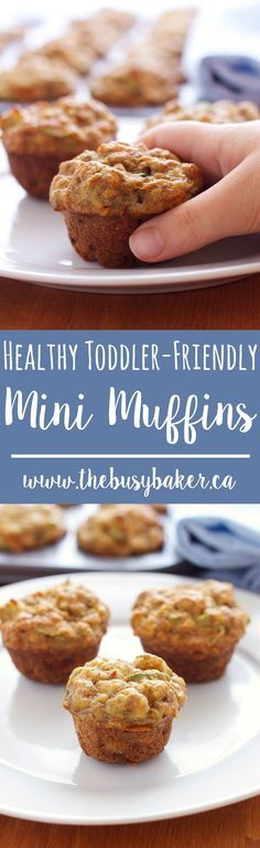 These Healthy Toddler-Friendly Mini Muffins are the perfect snack for kids…