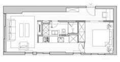 Квартира в 40 м² с очень необычной планировкой – Красивые квартиры