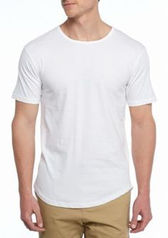 Ocean Current White Short Sleeve Long Tee