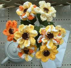 picture beautiful crocheted flowers