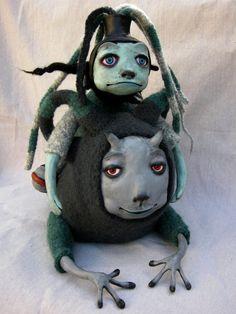 The Slug Rider ooak art doll by keelybenkey on Etsy, $425.00