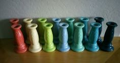 Fiesta® Dinnerware Y2k Candlesticks made by Homer Laughlin China Company | Criffer Auctions