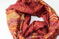 Mayil silk infinity scarf  infinity silk scarf  maroon от Mayil