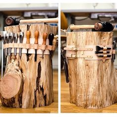 I'd love one of these stump benches!