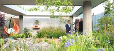 The Silent Pool Gin Garden, designed by David Neale, for the RHS Chelsea Flower Show 2019 - Pumpkin Beth Garden Walls, Cottage Garden Plants, Water Features In The Garden, Garden Features, Beautiful Roses, Beautiful Gardens, Chelsea Flower Show 2018, Astrantia Major, Water Walls