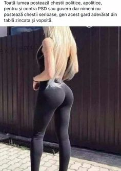 Handsome blonde in ebony stretched pants yoga pants
