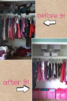 closet organized with Your Way Cubes from Thirty-One