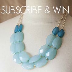 Enter to win a Statement Necklace and Bracelet from BELLEBLUSH