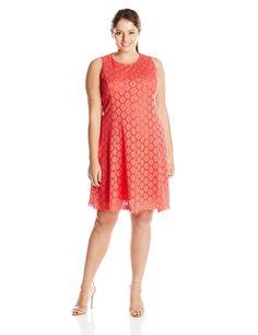 cc611e5c1696 Tiana B Women s Plus-Size Sleeveless Circle Crochet Lace Dress -- See this  great