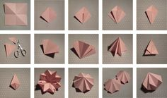 Origami geometric shapes diy paper diamond 31 Ideas for 2019 Design Origami, Instruções Origami, Origami Wedding, Origami Paper Art, Origami Butterfly, Useful Origami, Diy Paper, Paper Crafting, Origami Dragon