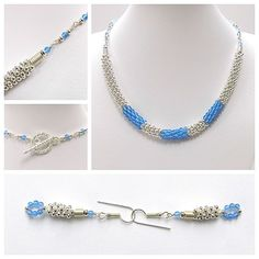 Instructions for Kumihimo with metal seed beads and blue agate