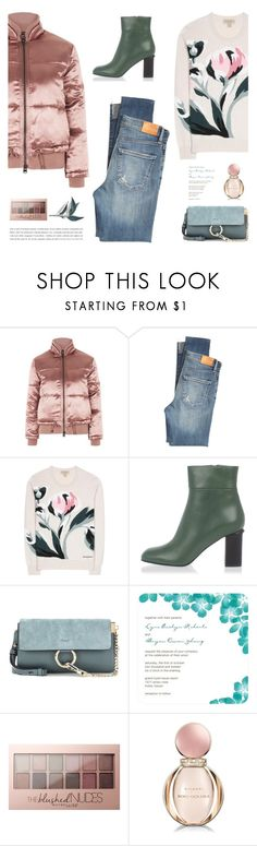 """""""Puffer jacket - Polyvore Contest"""" by yexyka ❤ liked on Polyvore featuring Topshop, Citizens of Humanity, Burberry, Marni, Chloé, Maybelline and Bulgari"""