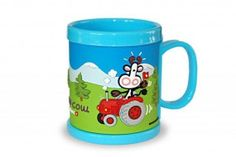 Tasse MUMU COW blau / Cup of MUMU COW blue / So that your child also has a cup. Kids love the feeling to drink from a cup, because their parents do it, too.