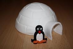Karin's Taarten: Iglo boltaart met Pingu
