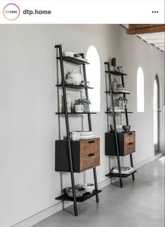 Small Corner, Wall Racks, Clever Design, Ladder Bookcase, Teak Wood, Natural Living, Frames On Wall, Cosmos, Drawers