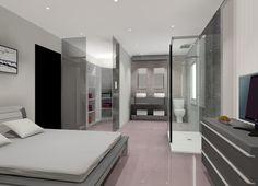 Baño Con Vestidor Integrado:Dormitorio con Baño Integrado