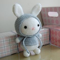 *IMPORTANT NOTE* - This is a crochet pattern, not the completed toy.  Now you can make your very own bunny gurumi!  This pattern is easy to follow