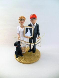 Anniversary Cake Topper  Custom Made  Contact by BarbarasClayMagic, $185.00