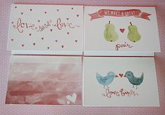 watercolor valentines day cards - Google Search
