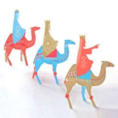 Folksy - Three Kings Christmas Paper Craft - Printed Sheets or PDF