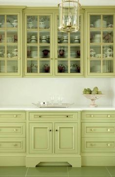 [ Green Kitchen Cabinet Paint Colors Perfect File Wikimedia Commons ] - Best Free Home Design Idea & Inspiration Green Kitchen Cabinets, Painting Kitchen Cabinets, Kitchen Colors, Kitchen Cabinetry, Glass Cabinets, Kitchen Paint, Bathroom Cabinets, China Cabinets, Oak Cabinets