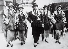 Paul Poiret and his models 1925 /// via WWD