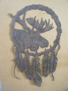Rusted Rustic Metal Moose Dream Catcher Wall by RockinBTradingCo, $65.00