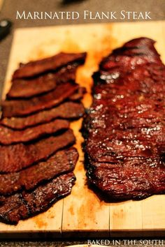 Citrus Marinated Flank Steak from Baked In The South