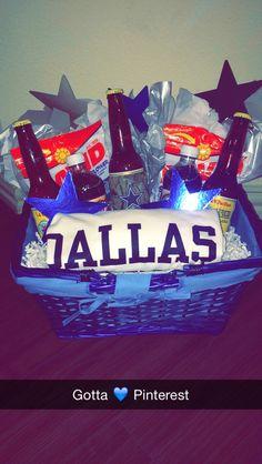 Dallas Cowboys Football gift basket I made for my boyfriends