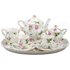 Children's floral tea set