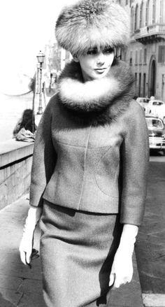 elegant 1950's suit