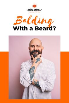 For a balding man, wearing a mustache might be the perfect way to usher in middle age. In fact, the mustache is an almost universal symbol for the sexy dad. The only thing to keep in mind is your face shape. Read on to learn 6 great #beardstyles Great Beards, Awesome Beards, Beard Growth, Beard Care, Beard Styles For Men, Hair And Beard Styles, Amish Beard, Bald Head With Beard, Badass Beard
