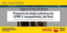 A proposta do Ministro da Saúde é de cobrar duas vezes! Não permita! Assine o manifesto:  http://www.naovoupagaropato.com.br